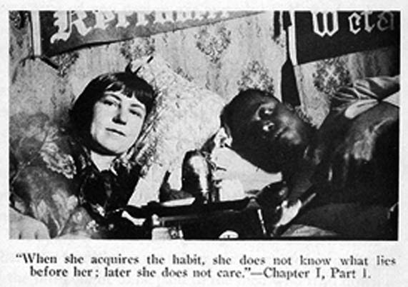 Photo from Emily Murphy's infamous 1922 The Black Candle. Her research included a tour of Vancouver's opium dens.