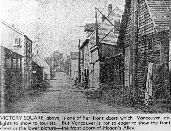Hogan's Alley, between Prior and Union Streets. <em>Province</em>, 10 May 1947