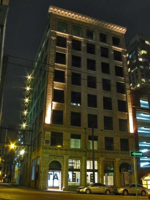 The Lumbermen's Building at 509 Richards Street in Vancouver.