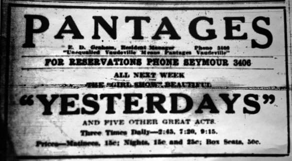 Vancouver Daily Sun, 2 November 1914