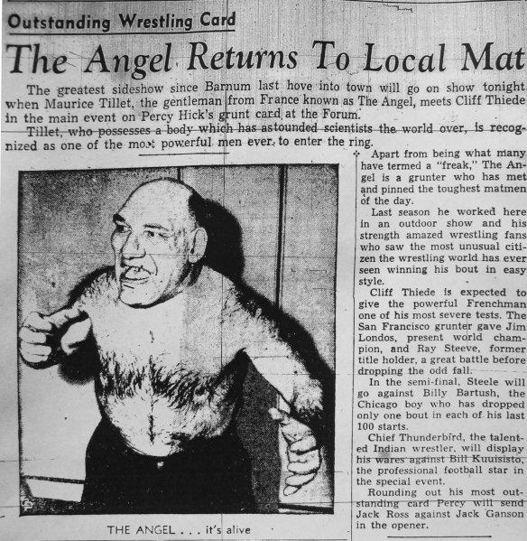 "Maurice ""The Angel"" Tillet. News-Herald, 27 July 1944"