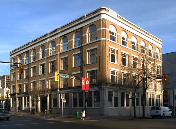 411 Dunsmuir Street, originally the Labour Temple for the Vancouver Labour Congress.