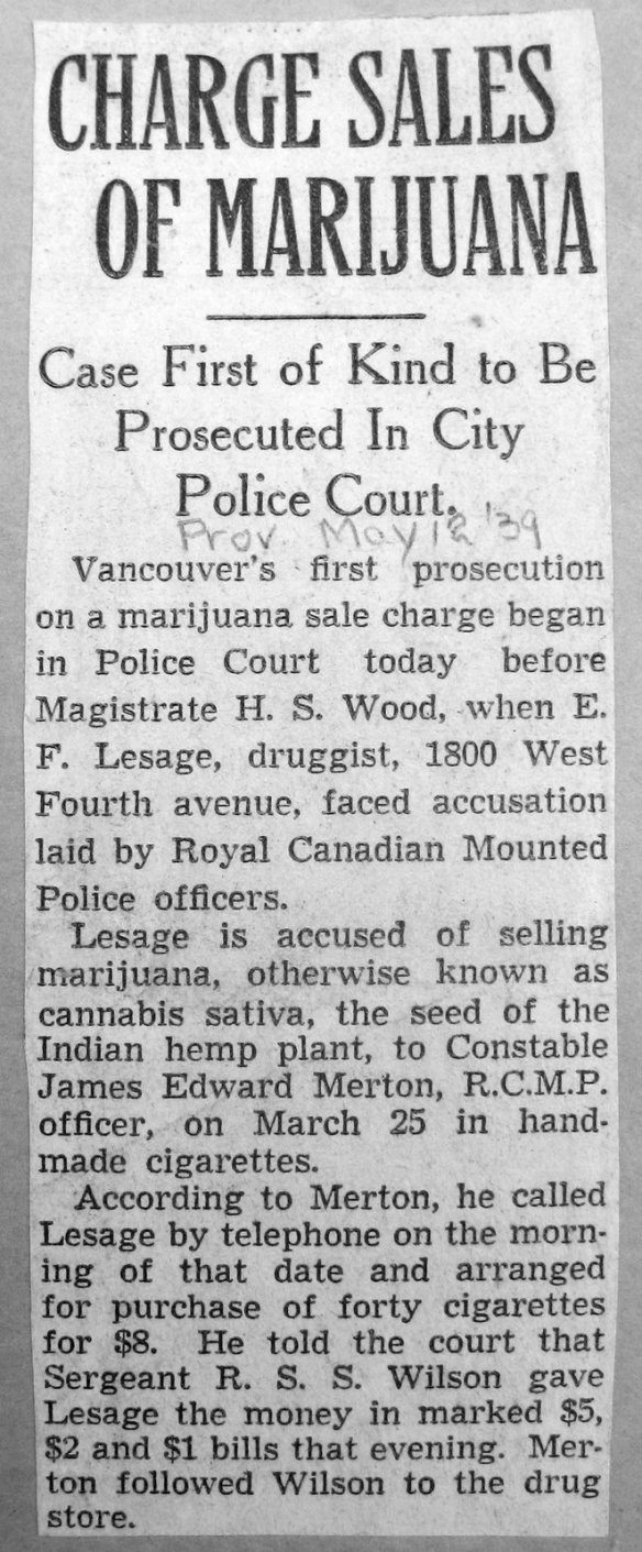 Vancouver Daily Province, 12 May 1939.