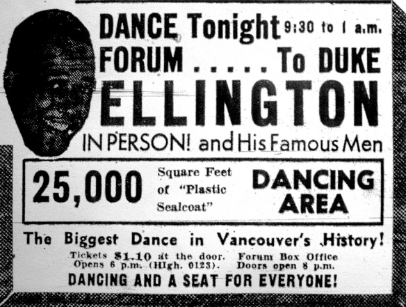 Duke Ellington and his Famous Men. Vancouver Sun, 15 April 1940.