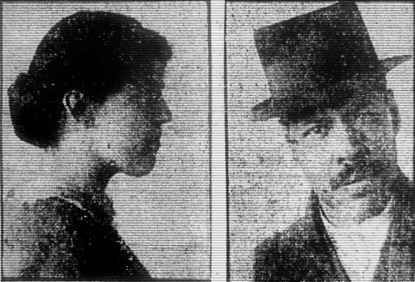 Mugshots of Frankie Russell and Bob Tait.