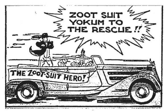"""""""Zoot Suit Yokum"""" from Al Capp's Li'l Abner, April 1943"""
