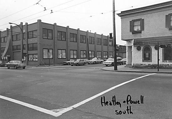 686 Powell Street in the 1980s. City of Vancouver Archives #772-810