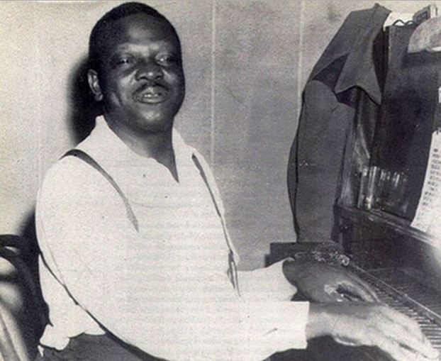 Oscar Holden (1887-1969), leader of the jazz band at the Patricia Cabaret, resident of 102 East Georgia Street, and later, the patriarch of Seattle's jazz scene. Photo from Grace Holden, via BlackPast.org