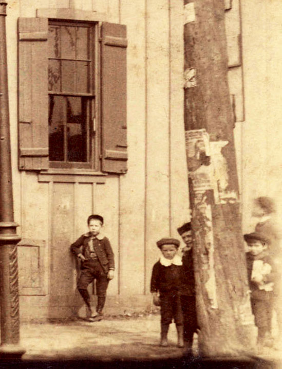 East End boys, probably up to no good, ca. 1890. City of Vancouver Archives #CVA 371-1023 (cropped)