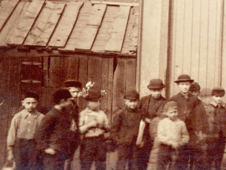 Boys outside East Ender Job Printing Office, no doubt cussing and packing cigarettes, ca. 1890. City of Vancouver Archives #East End boys, probably up to no good, ca. 1890. City of Vancouver Archives #CVA 371-1023 (cropped)
