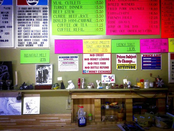 View from the lunch counter at Wings Cafe, 2011.